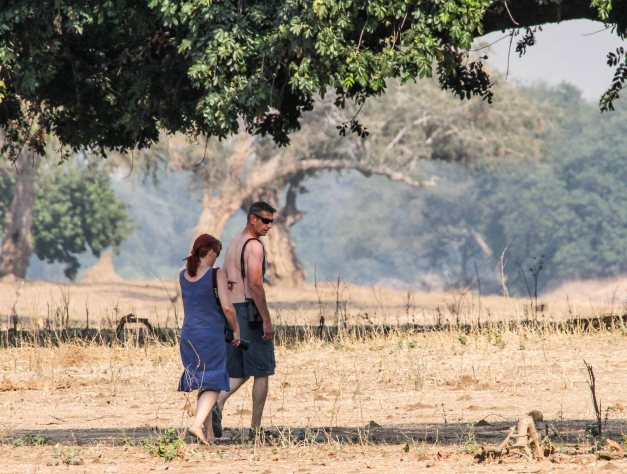 Going walkies, as you do in Mana Pools