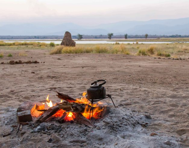 Camp fire, Zambezi & the African bush... it doesn't get better than this!