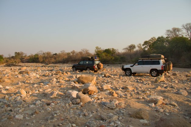 Heading out of Matusadona National Park to Mana Pools