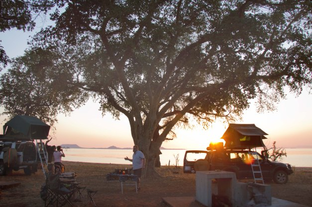 Our campsite in Tashinga, on the shore of Lake Kariba. Absolute heaven!