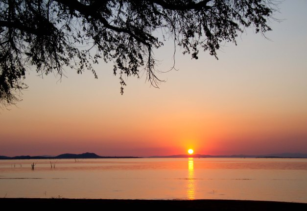 Kariba sunset - Tashinga campsite
